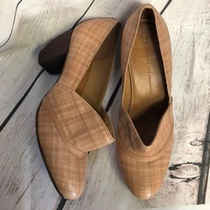 Anthro Schuler & Sons Plaid Heeled Shoes 8 1/2B